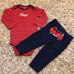 Carters firetruck outfit